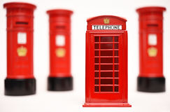 London postbox and telephone box Stock Photos