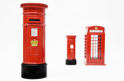 London postbox and telephone box Royalty Free Stock Photos