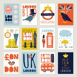 London Posters And Banners Set Stock Photo