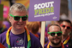 London Pride Parade in violet Stock Photography