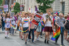 London Pride procession Royalty Free Stock Photography