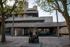 London Pride statue in front of National Theatre in South Bank, London Royalty Free Stock Photos