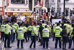 London protest arkivfoto