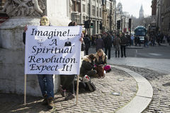 London protesters march against worldwide government corruption Royalty Free Stock Photography