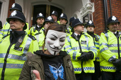 London protesters march against worldwide government corruption Royalty Free Stock Image