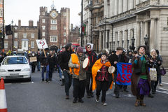 London protesters march against worldwide government corruption Stock Photo
