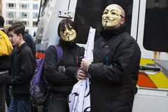 London protesters march against worldwide government corruption Stock Photography