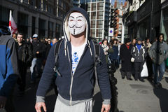 London protesters march against worldwide government corruption Stock Images