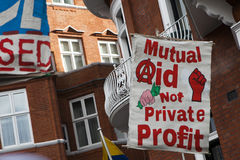 London protesters march against worldwide government corruption Royalty Free Stock Photos