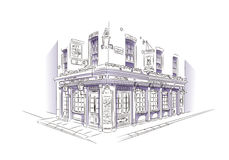 London Pub Sketch Royalty Free Stock Photo