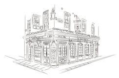 London Pub Sketch Stock Photography