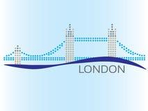 London punktierte Bild Stockbilder
