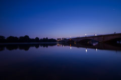 London. Putney  Bridge  Thames River London early morning reflections Royalty Free Stock Photo