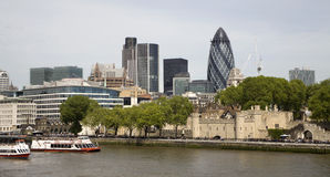 London - quay and modern buildings Stock Image