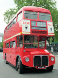 London röd buss Arkivfoto