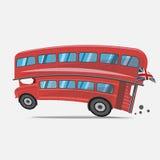London röd buss Buss för dubbel däckare - Royaltyfria Foton