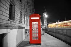 London rött telefonbås Arkivfoto