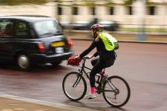London-Radfahrer in der Bewegung