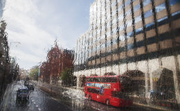 London in rain Stock Photo