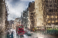 London in rain Stock Image