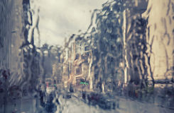 London in rain. Seasonal background Royalty Free Stock Images