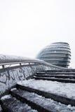 London-Rathaus im Schnee stockfoto
