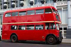 London Red Bus traditional old Stock Photography