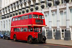 London Red Bus traditional old Royalty Free Stock Photos