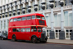 London Red Bus traditional old Stock Image