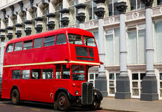 London Red Bus traditional old Royalty Free Stock Images