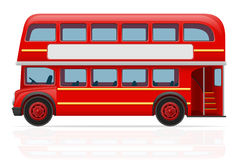 London red bus vector illustration Royalty Free Stock Photography