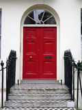 London Red Door Royalty Free Stock Photos