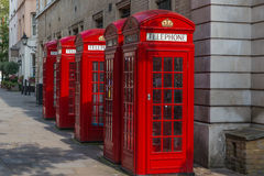 London Red K2 Telephone Boxes Stock Photography
