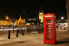 London Red Phone Booth Stock Images