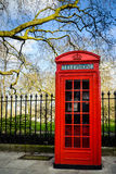 London - red phone box Royalty Free Stock Photos