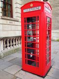 London Red Telephone Booth Stock Photos