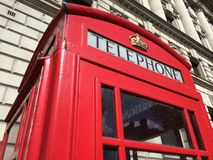 London Red Telephone Booth Stock Image