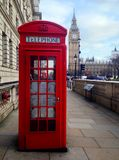 London Red Telephone Booth Royalty Free Stock Images