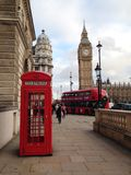 London Red Telephone Booth Stock Photography