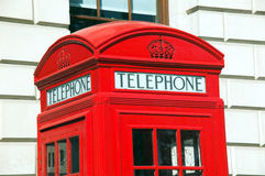 London Red Telephone Box. The Red Telephone Box is a classic feature in the heart of London Stock Photo