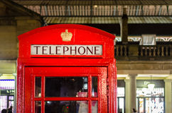 London, red telephone box in Covent Garden Royalty Free Stock Images