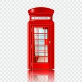London red telephone box. Realistic vector illustration Stock Photo