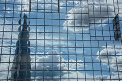 London, reflection of the shard building Royalty Free Stock Images