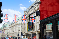 London Regent Street W1 Westminster in UK Royalty Free Stock Photos