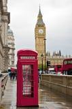 london regn Royaltyfri Fotografi
