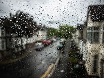 London regn Arkivfoto