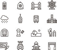 London related icons Stock Photo