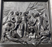 London - relief from Nelson memorial stock photography