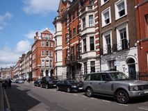 London, residential street Royalty Free Stock Photo