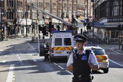 London riots aftermath, Clapham Junction Royalty Free Stock Photo